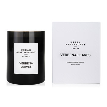 Luxury Scented Candle - Black Glass - Verbena Leaves