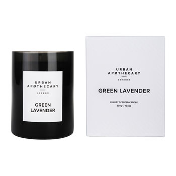 Luxury Scented Candle - Black Glass - Green Lavender