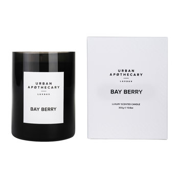 Luxury Scented Candle - Black Glass - Bay Berry