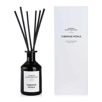 Luxury Reed Diffuser - Black Glass - Tuberose Petals