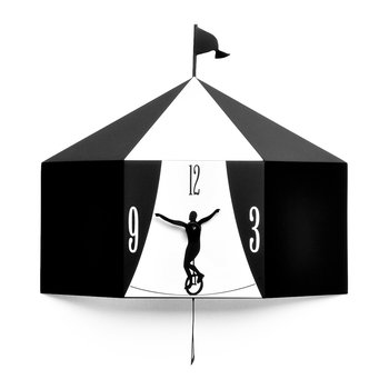 Circus Wall Clock - Black