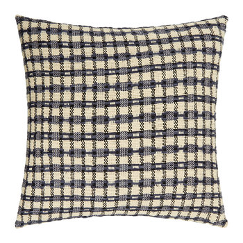 St Mawes Silk Cushion Cover - 50x50cm - Check