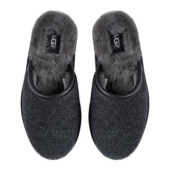 Men's Scuff Novelty Slippers - Black