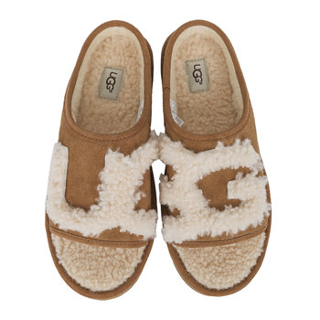 Women's Slide Slippers - Chestnut/Natural