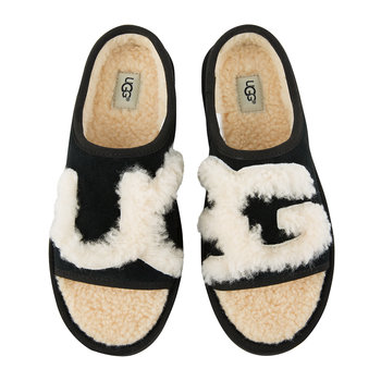 Women's Slide Slippers - Black/Natural