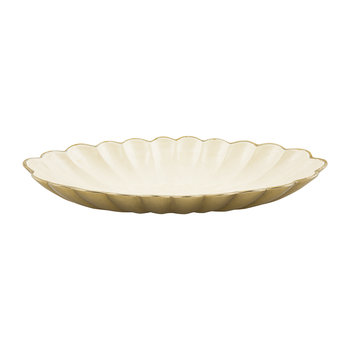 Peony Oval Bowl - Gold Snow
