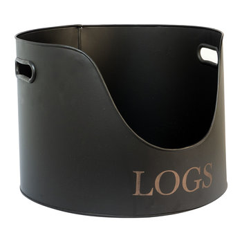 Round Log Holder - 30cm - Iron