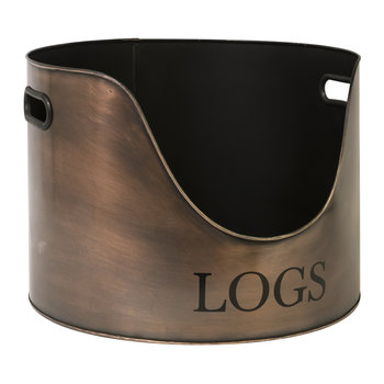Round Log Holder - 30cm - Copper