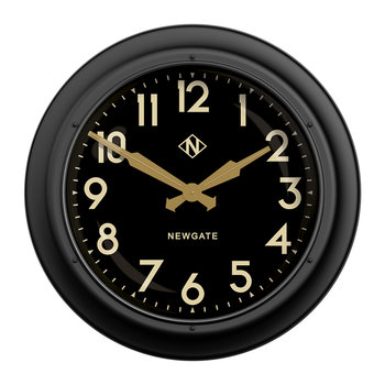 Giant Electric Clock - Black & Gold