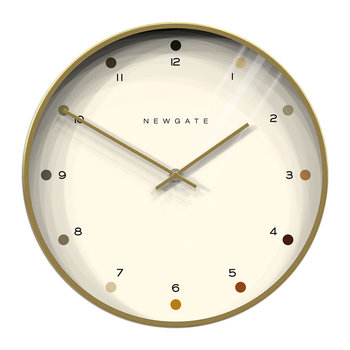 Oslo Clock - Brass - Dot Dial