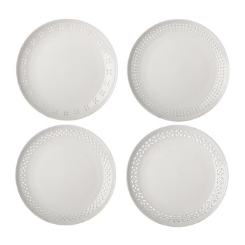 Pierced Plates - Set of 4