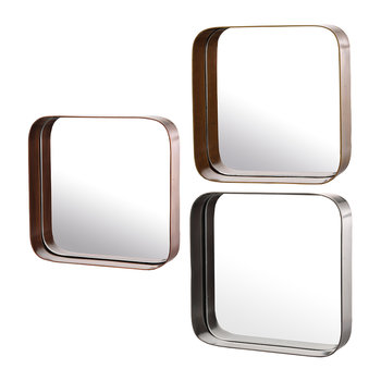 Miroirs à Bordure - Lot de 3 - Carré