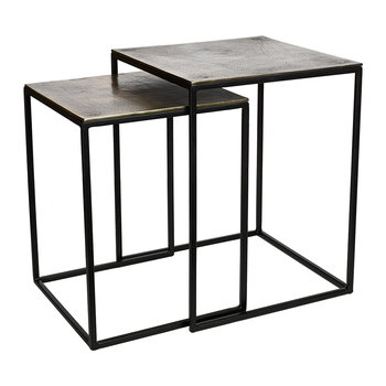 Square Frame Side Tables - Set of 2