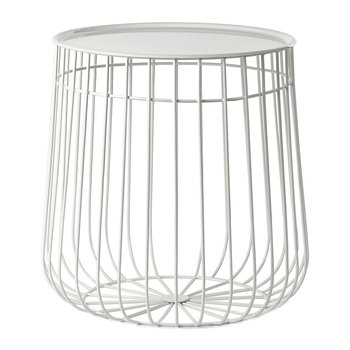 Wire Storage Table - White