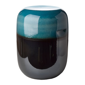 Ceramic Pill Stool - Blue Bronze Gradient