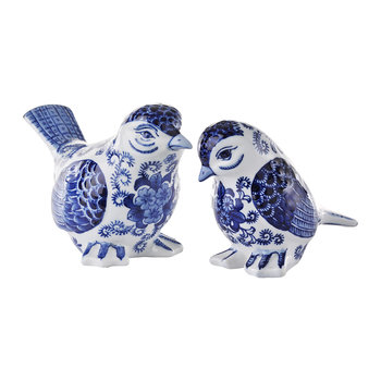 Porcelain Bird Ornaments - Set of 2