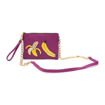 Colima Banana Split Shoulder Bag - Small - Pink