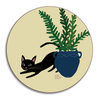 Anne Bentley Cats Coaster - Bombay