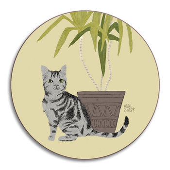 Anne Bentley Cats Coaster - Tabby