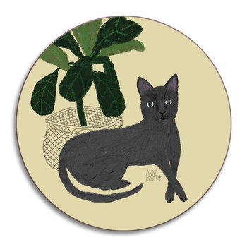 Anne Bentley Cats Coaster - Persian Blue