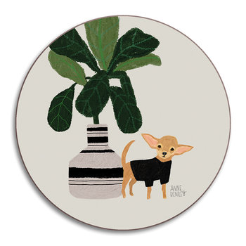 Anne Bentley Dogs Coaster - Chihuahua