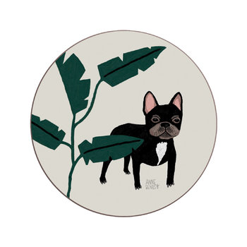 Anne Bentley Dogs Coaster - French Bulldog