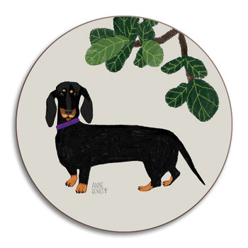 Anne Bentley Dogs Coaster - Dachshund