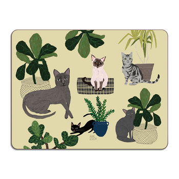 Anne Bentley Table Mat - Cats