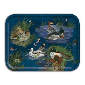 Nathalie Lete Ducks in a Creek Wooden Tray - Rectangular