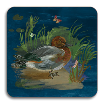 Nathalie Lete Ducks in a Creek Coaster - Wigeon Duck