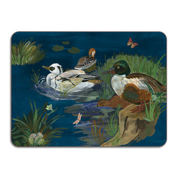 Nathalie Lété Ducks in a Creek Table Mat - Smew & Shoveler Ducks