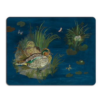Nathalie Lété Ducks in a Creek Table Mat - Teal Duck