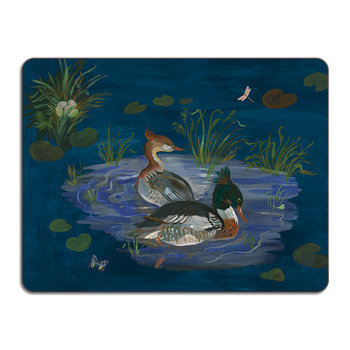 Nathalie Lété Ducks in a Creek Table Mat - Merganser Duck