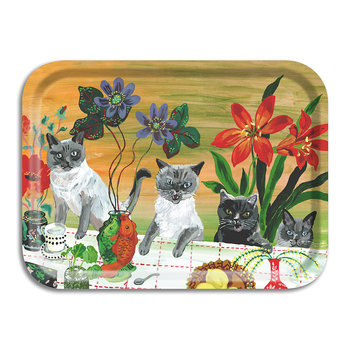 Nathalie Lete In The Garden Of My Dreams Tray - Four Cats