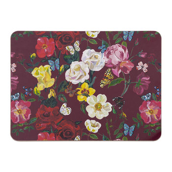 Nathalie Lete Roses Table Mat - Ruby