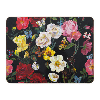Nathalie Lété Roses Table Mat - Black