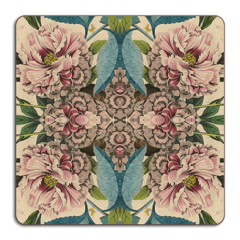 Patch NYC Flora Placemat - Square - Peonies