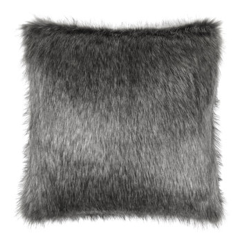 Faux Fur Lady Gray Pillow