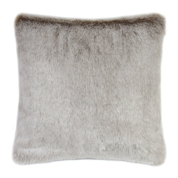 Faux Fur Latte Pillow - 40x40cm