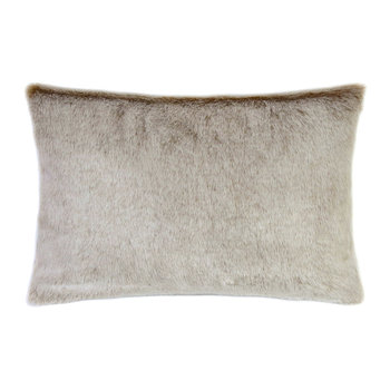 Faux Fur Latte Pillow - 30x45cm