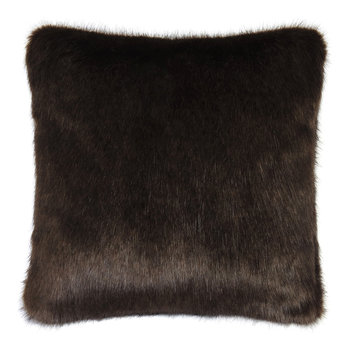 Faux Fur Treacle Cushion - 40x40cm