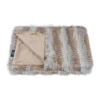 Faux Fur Throw - Siberian Wolf