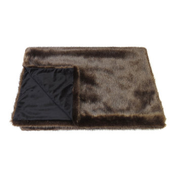 Faux Fur Throw - Signature Treacle