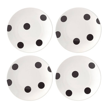 Deco Dot Appetizer Plates - Set of 4