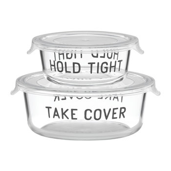 Hold Tight Food Storage Dishes - Round - Set of 2