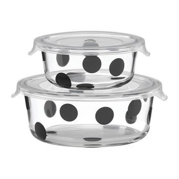 Deco Dot Food Storage Dishes - Round - Set of 2