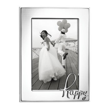In a Word Photo Frame - Happy - 4x6""