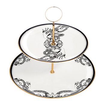 The Divineness of Time Cake Stand
