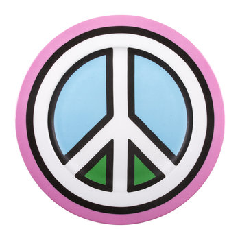 'Blow' Porcelain Dinner Plate - Peace