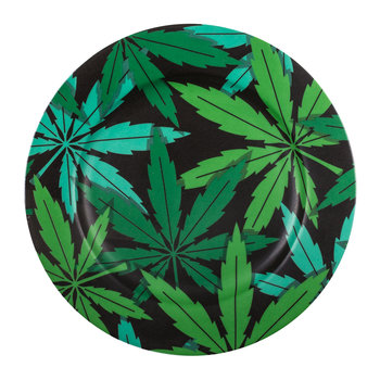 'Blow' Porcelain Dinner Plate - Weed
